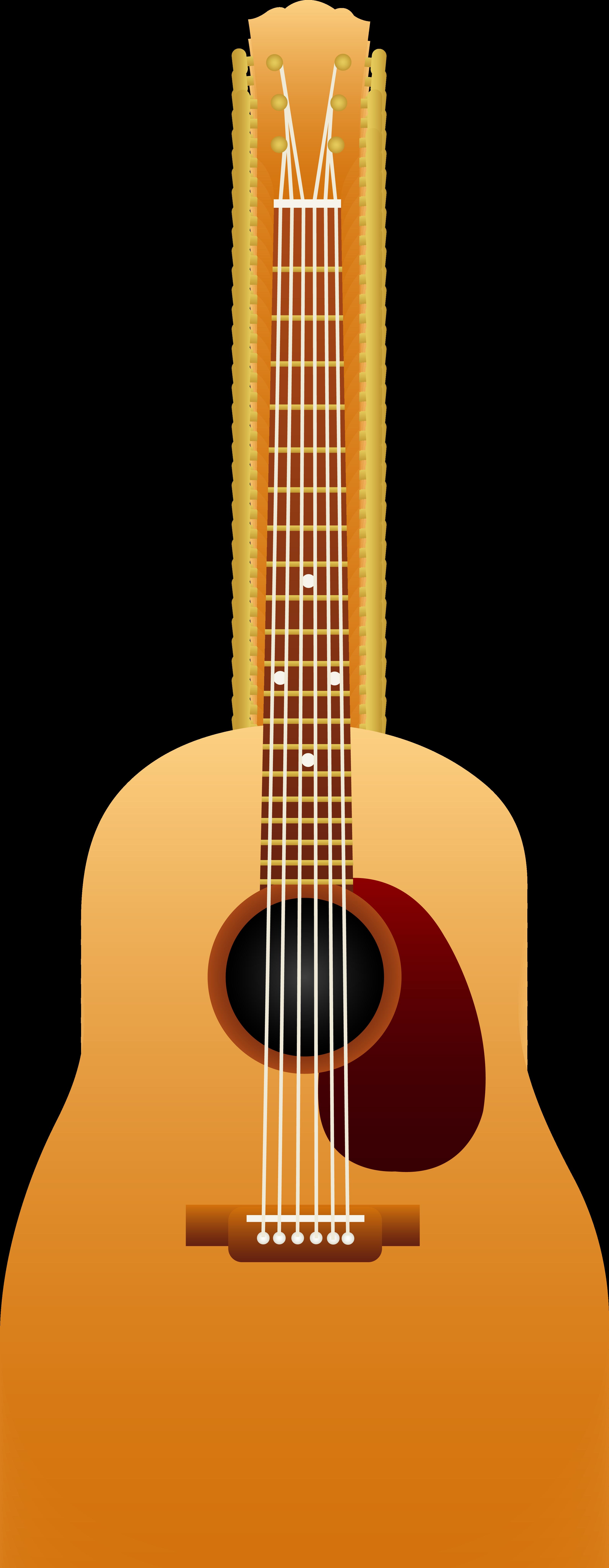 Sunburst Png Guitar Clipart Acoustic.