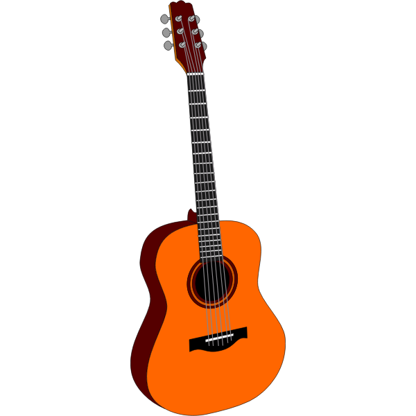 Acoustic guitar clip art vector graphics.