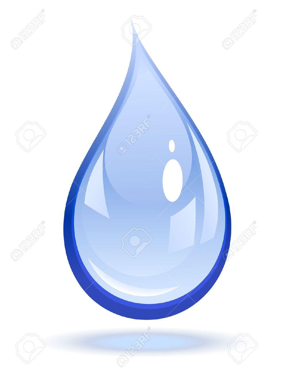 Illustrazione Vettoriale Di Una Goccia D'acqua Clipart Royalty.