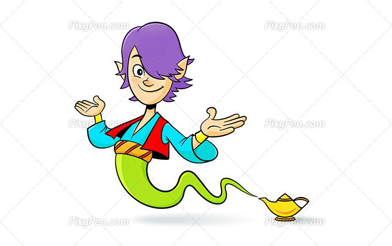 Aladdin vector clipart.