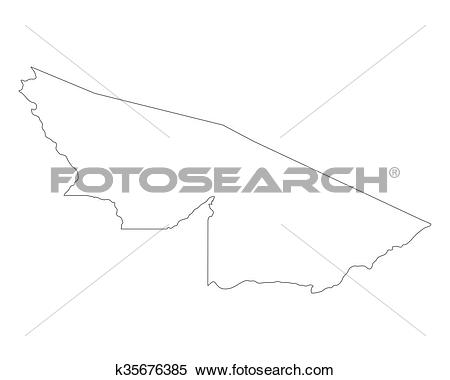 Clipart of Map of Acre k35676385.