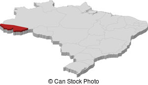 Clip Art Vector of Map of Acre csp32792365.