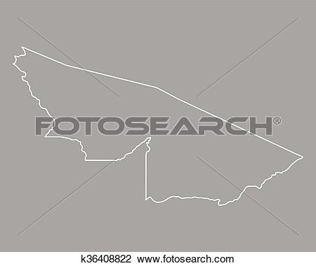 Clipart of Map of Acre k36408822.