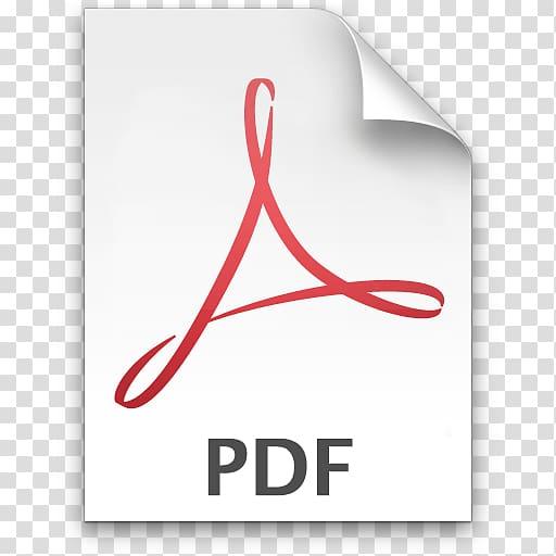 PDF icon illustration, Adobe Acrobat Portable Document.