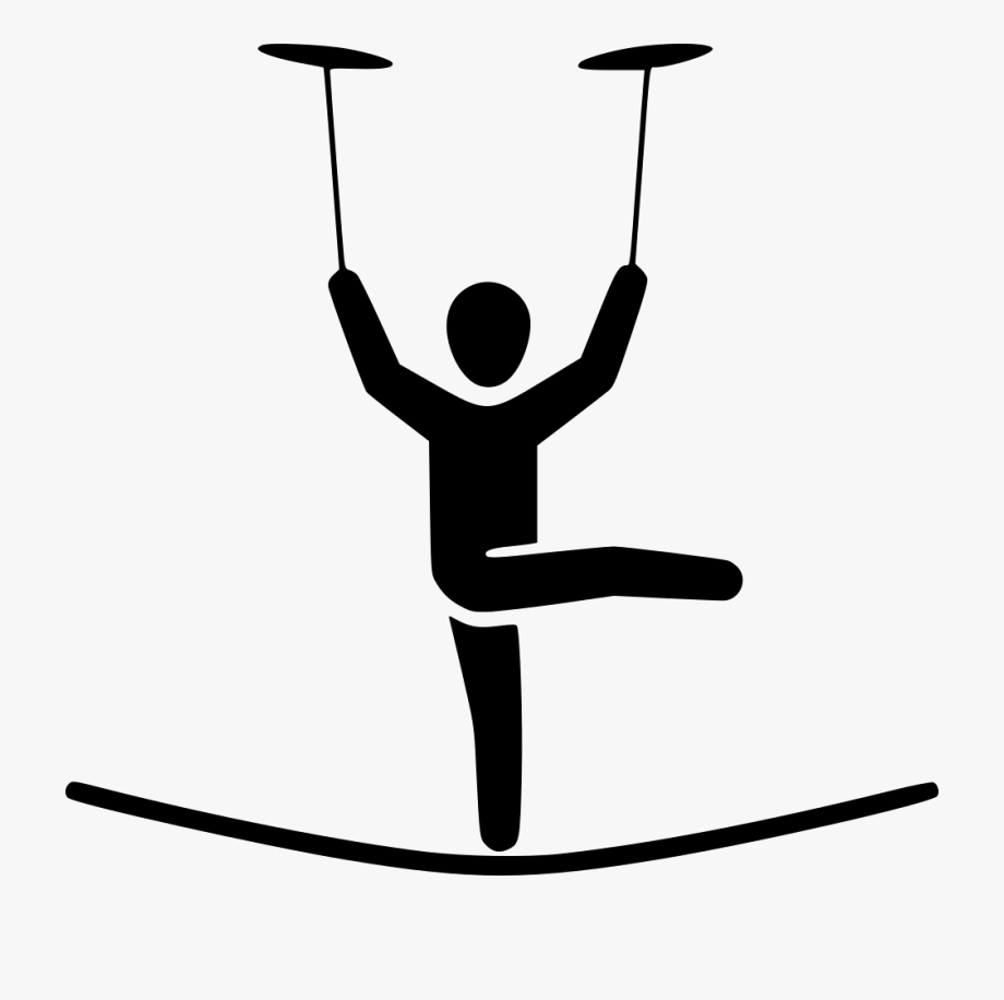 Circus Tightrope Walker Clipart.