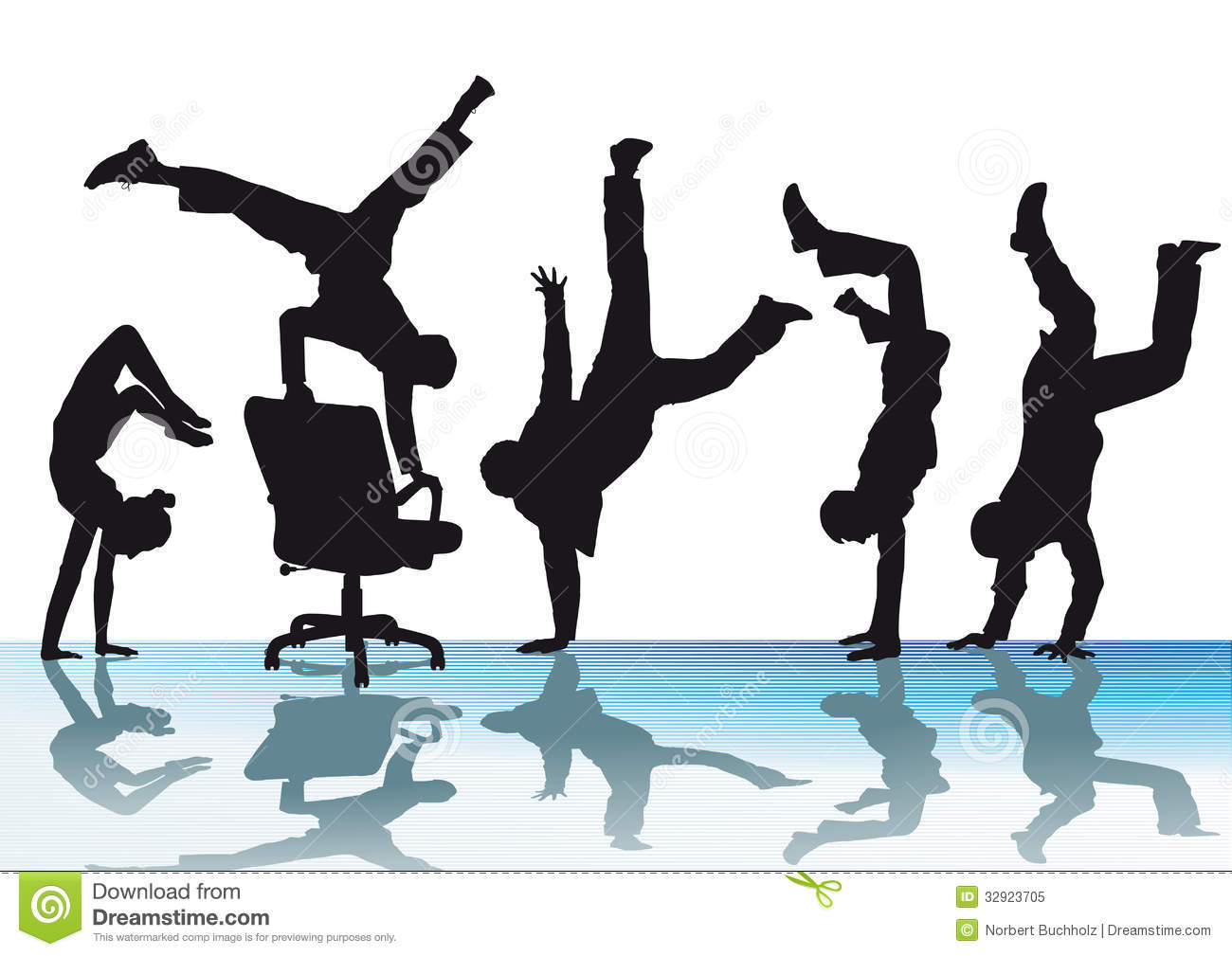 Acrobatics Stock Illustrations.