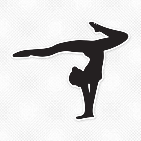 Acrobatic gymnastics clipart.
