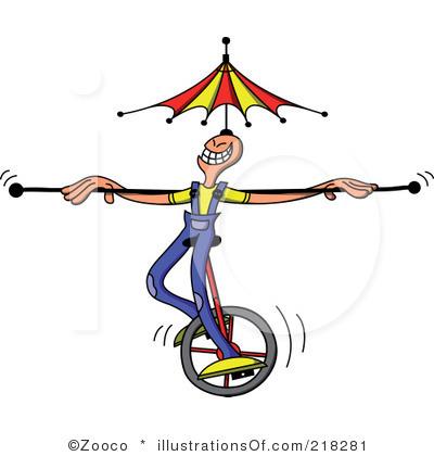 Circus Acrobat Clipart.