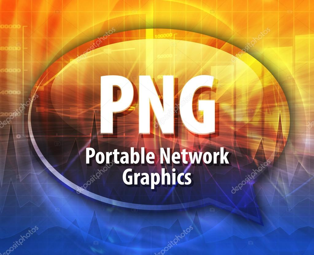 PNG acronym definition speech bubble illustration — Stock Photo.