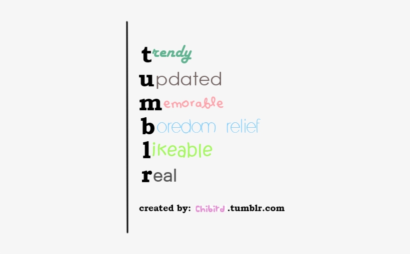 Here's The Example To The Tumblr Acronym Post I Made.