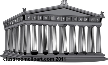 History Gray and White Clipart: acropolis.