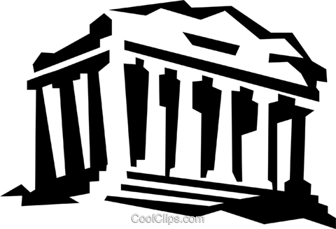 acropolis in Athens Greece Royalty Free Vector Clip Art.