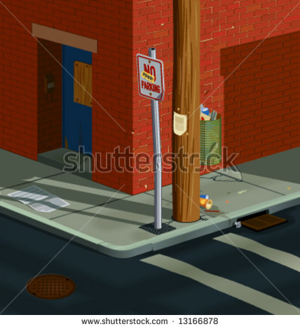 Clip Art City Street Intersection Clipart.