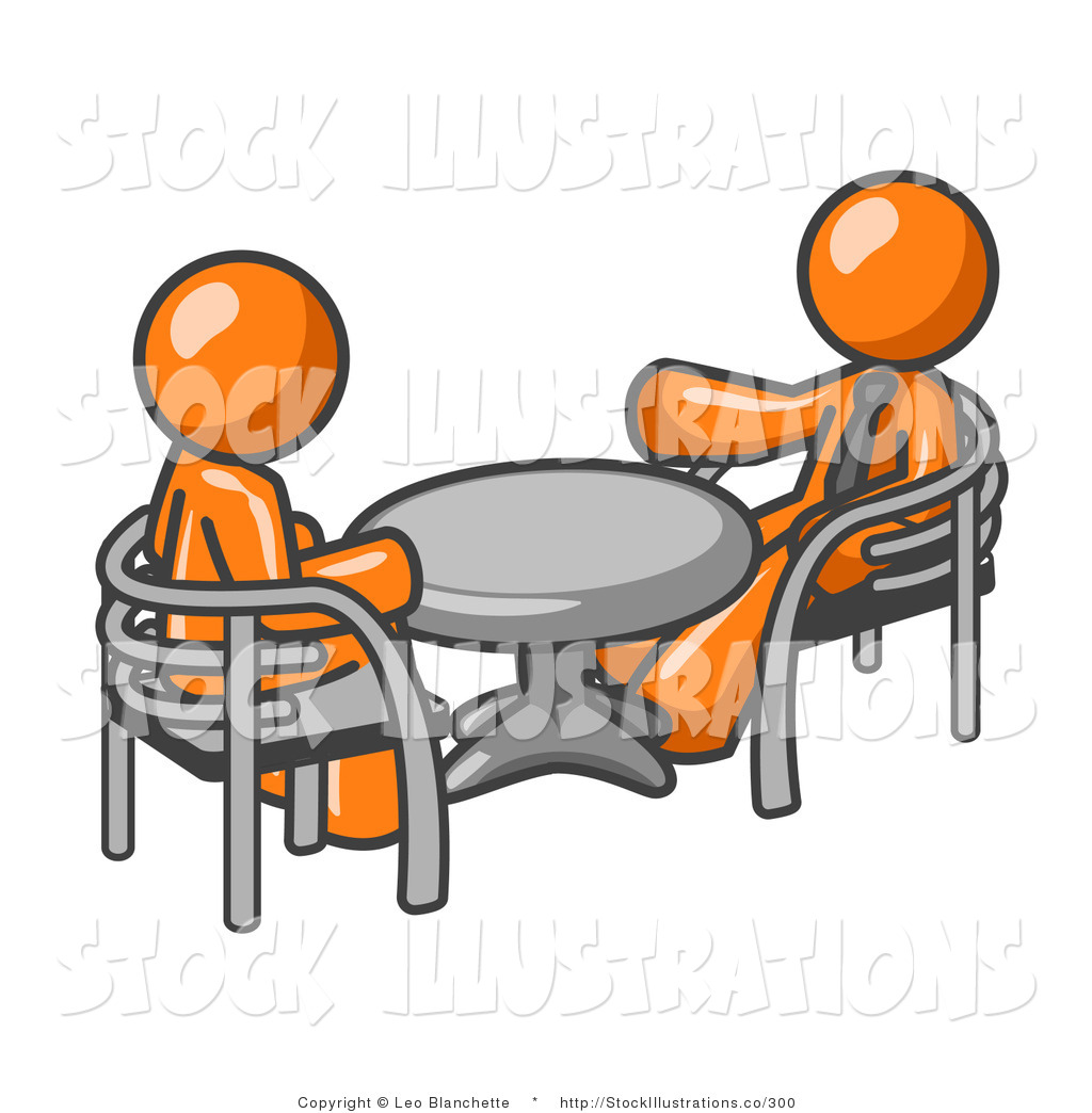 People Sitting At Table Clipart.