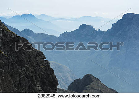 Pictures of Looking across the Cuillin of Skye towards the.
