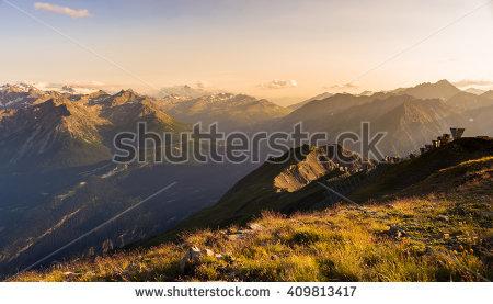 Distant Mountains Stock Photos, Royalty.