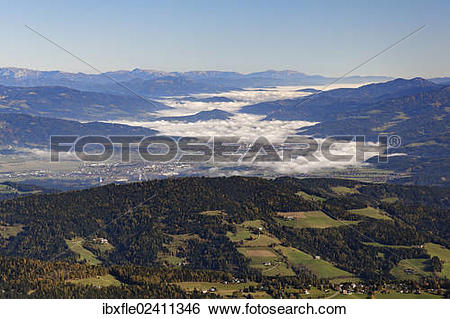 "Stock Images of ""View from Zirbitzkogel mountain across the valley."