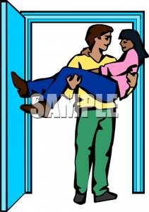 Man Carrying a Woman Across the Threshold.