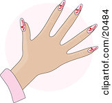Royalty Free Stock Illustrations of Acrylic Nails by Maria Bell Page 1.