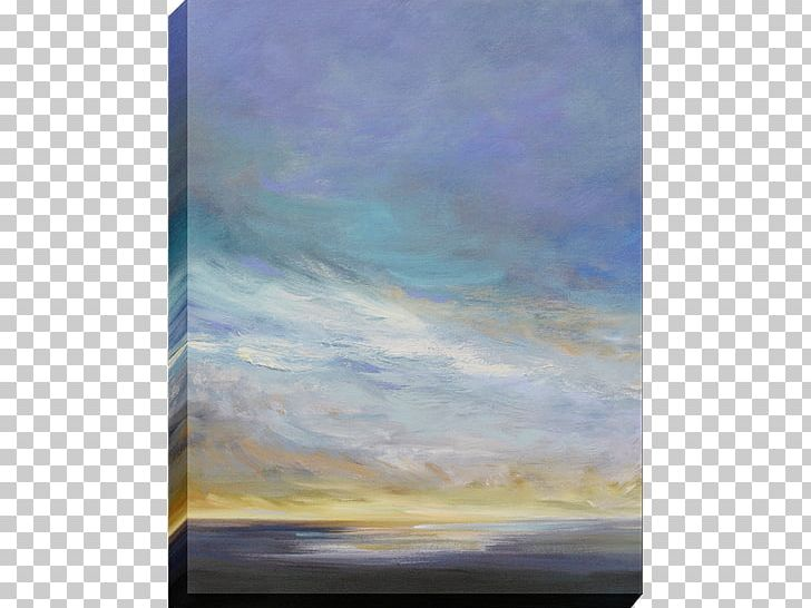 Watercolor Painting Canvas Sky Stretcher Bar PNG, Clipart.