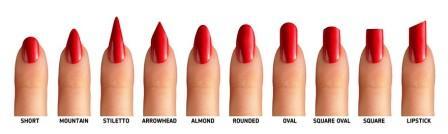 acrylic nail shapes #9