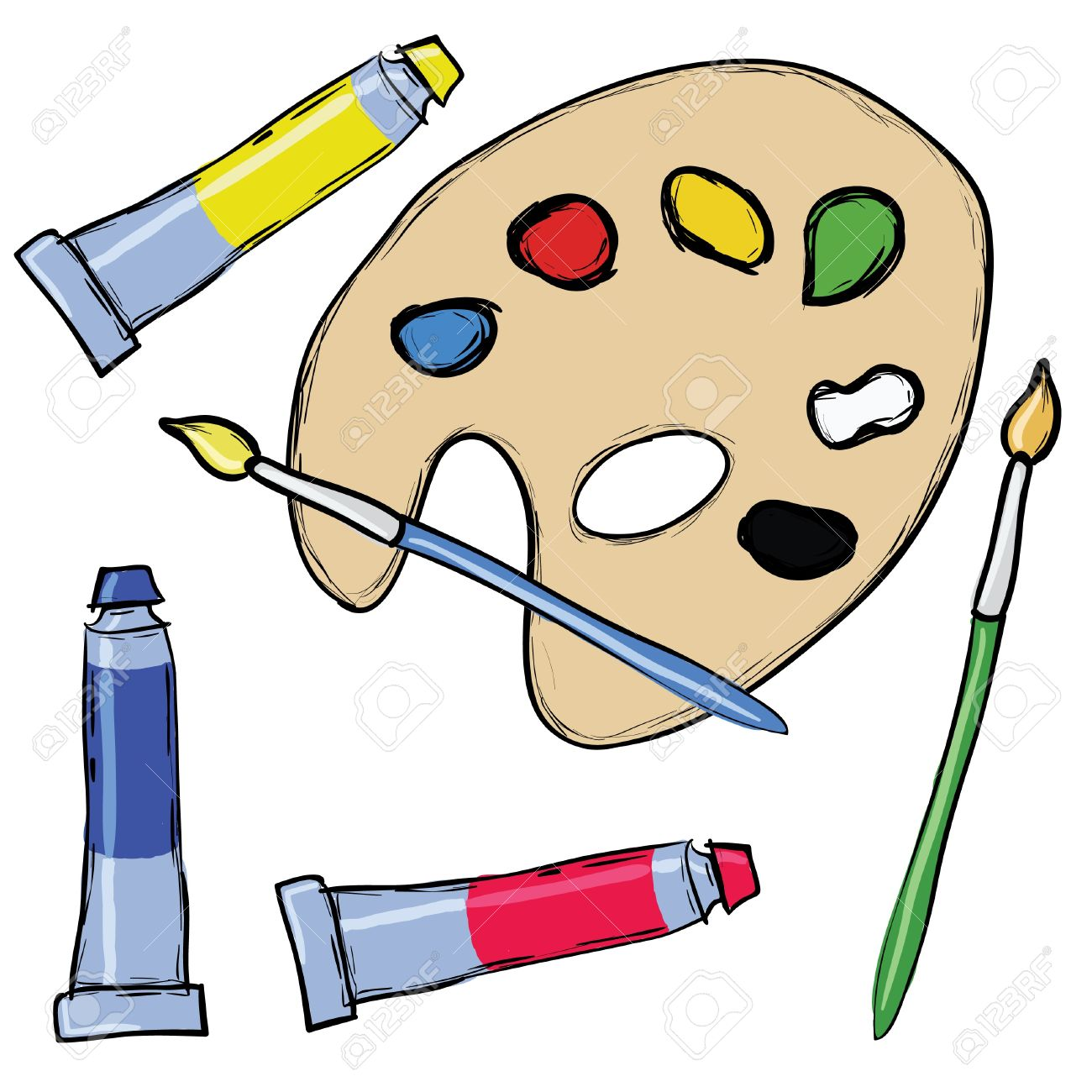 Paint set clipart.