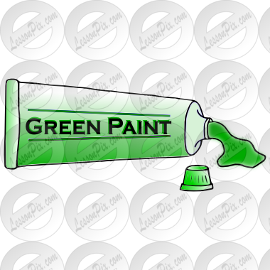 Green Paint Picture for Classroom / Therapy Use.
