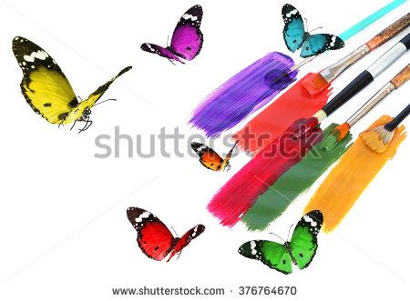 Color Butterflies Palette Stock Photos, Royalty.