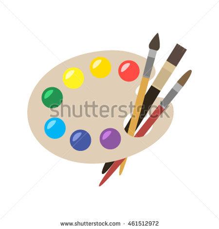 Paint Palette Stock Photos, Royalty.