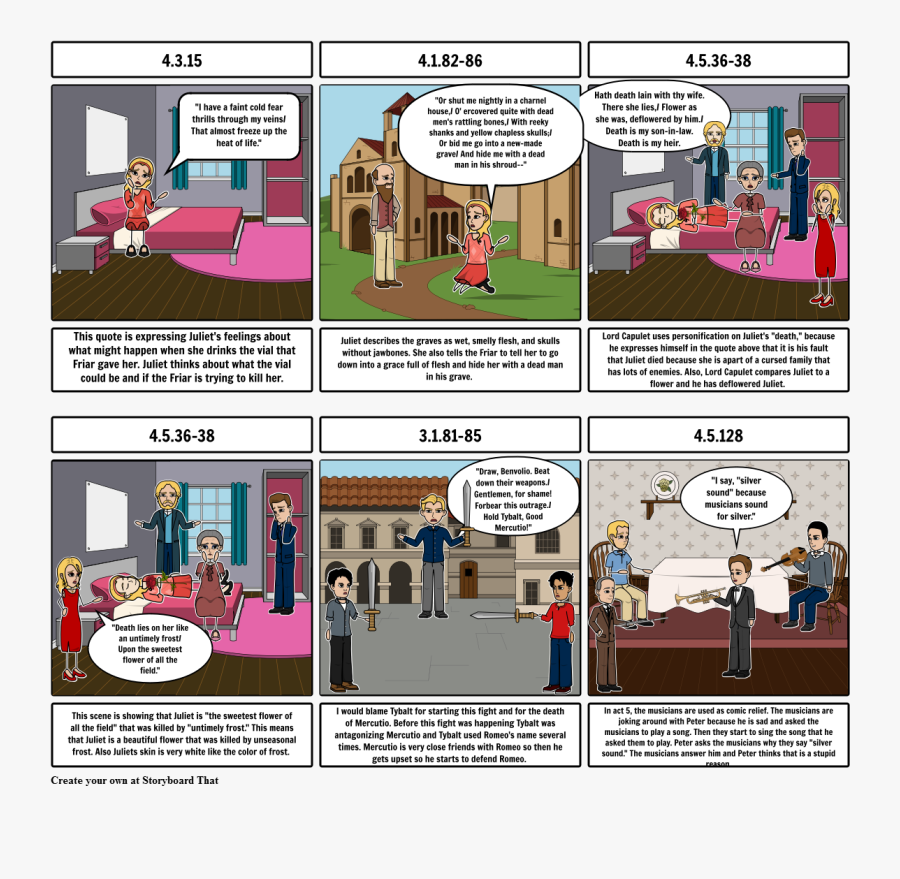 Comic Strip Romeo And Juliet Act 1 , Free Transparent.