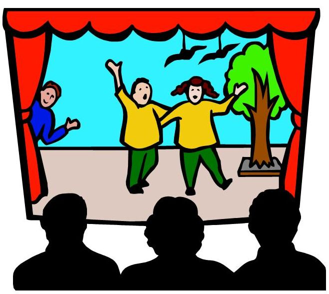 Actors on stage clipart clipart images gallery for free.