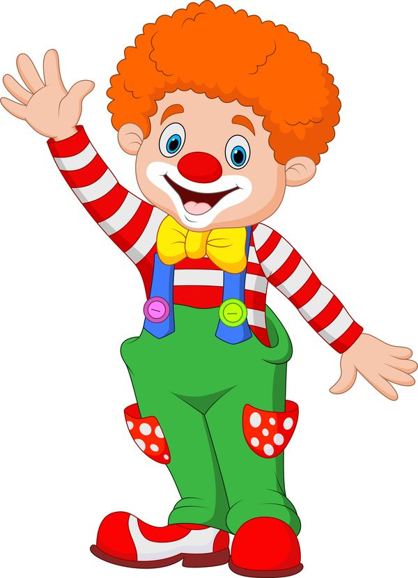 Cirkus clown illustration vektor ställa 07.