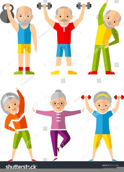 Active Seniors Clipart.