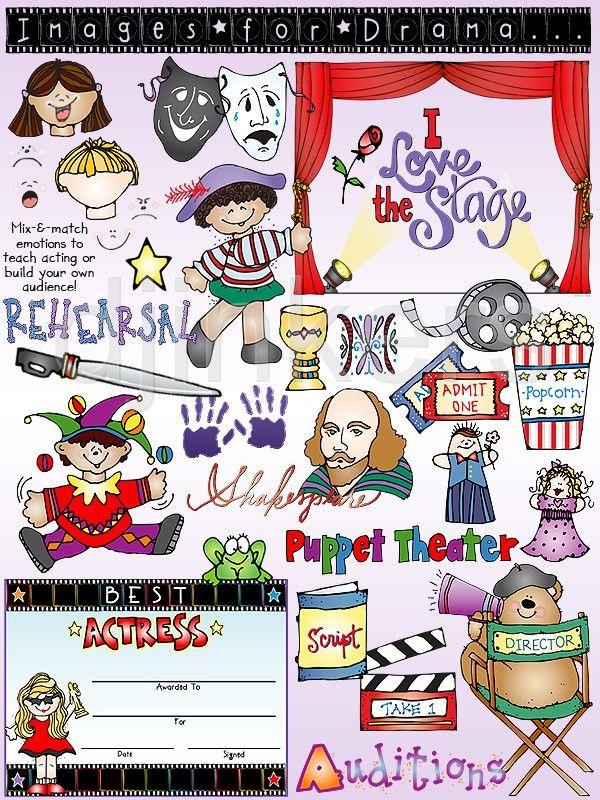 drama clip art, theater clip art, theatre clip art.