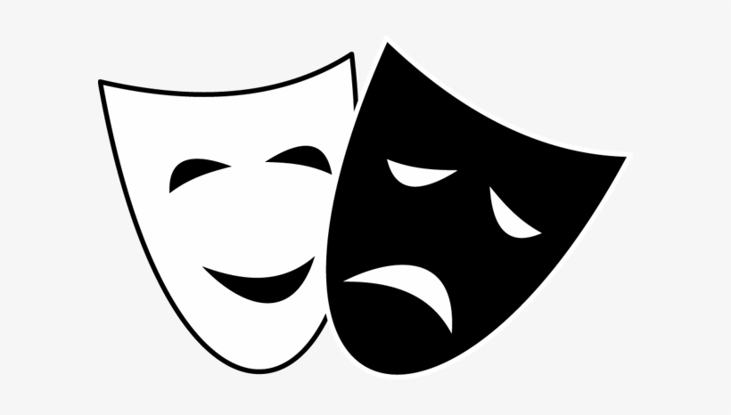 Comedy Tragedy Mask Clipart.