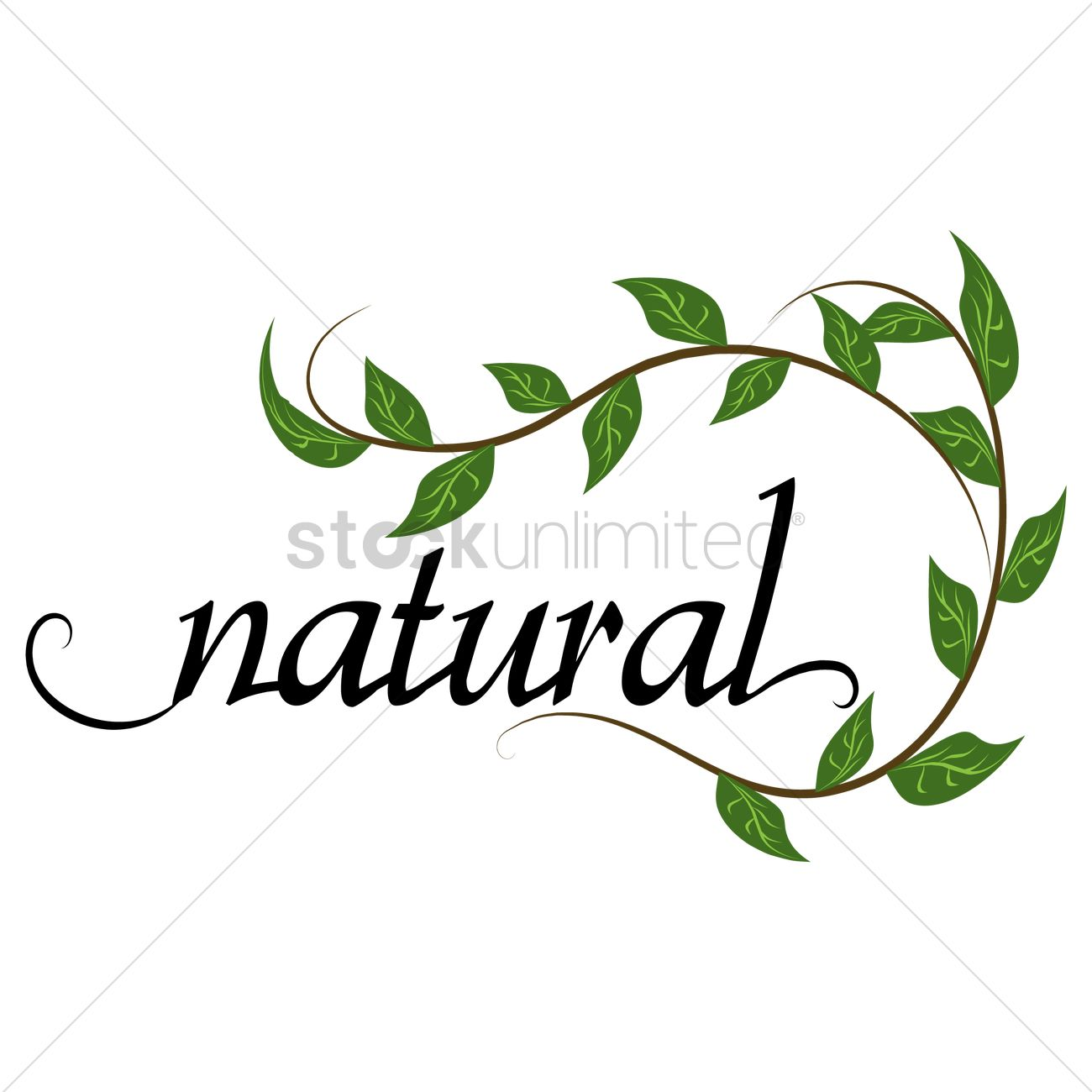 Go green concept with natural word Vector Image.
