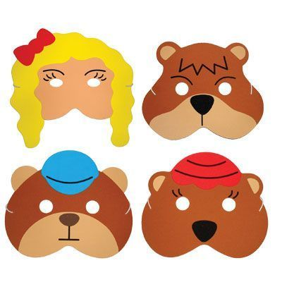 These foam childrens masks are great for telling and acting.