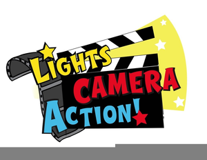 Lights Camera Action Clipart.