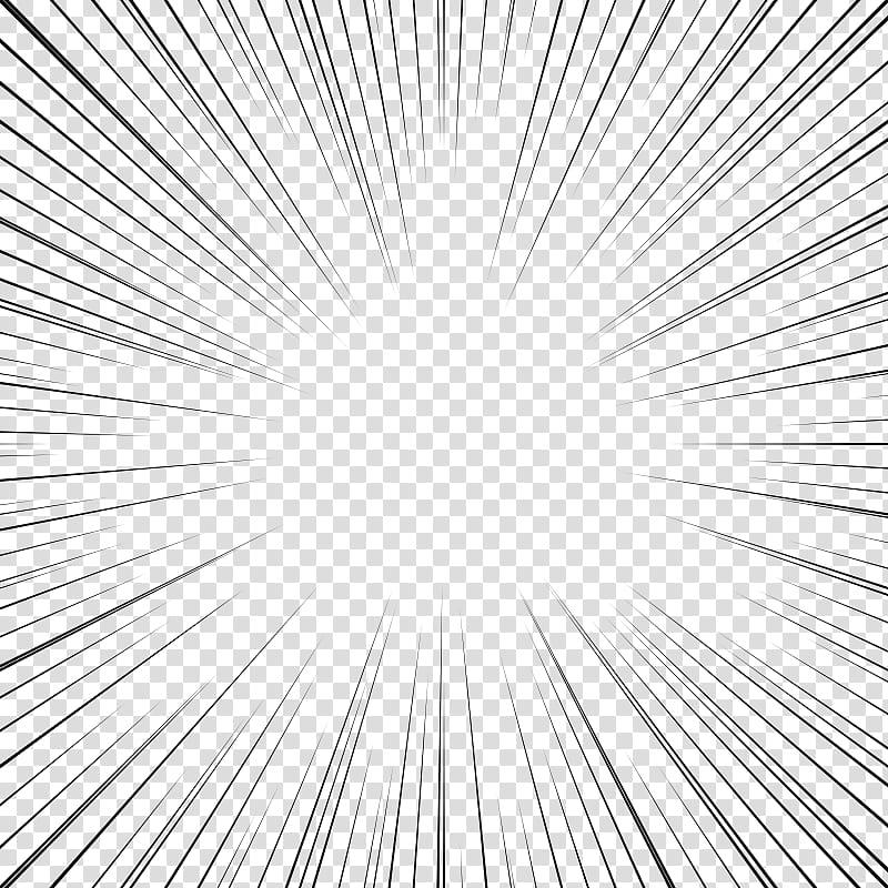 Screentones action lines , black lines transparent.