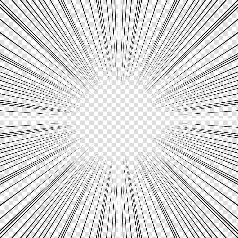 Screentones action lines, radial lines sunburst on blue.