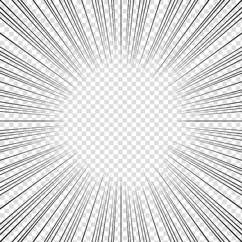Screentones action lines, black striped frame transparent.