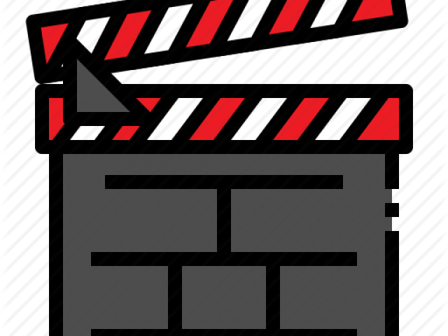 HD Clapperboard Clipart Movie Action Thing Transparent PNG Image.