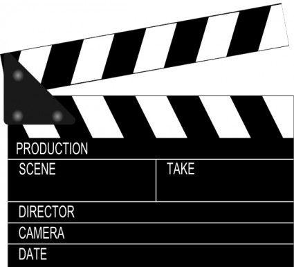 Movie Clapper Board clip art.