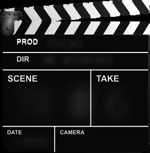 Movie action clapper board vector clip art.
