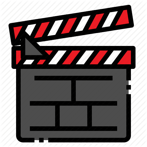 \'Movie entertainment filled outline style\' by ZIRSOLOSTUDIO.