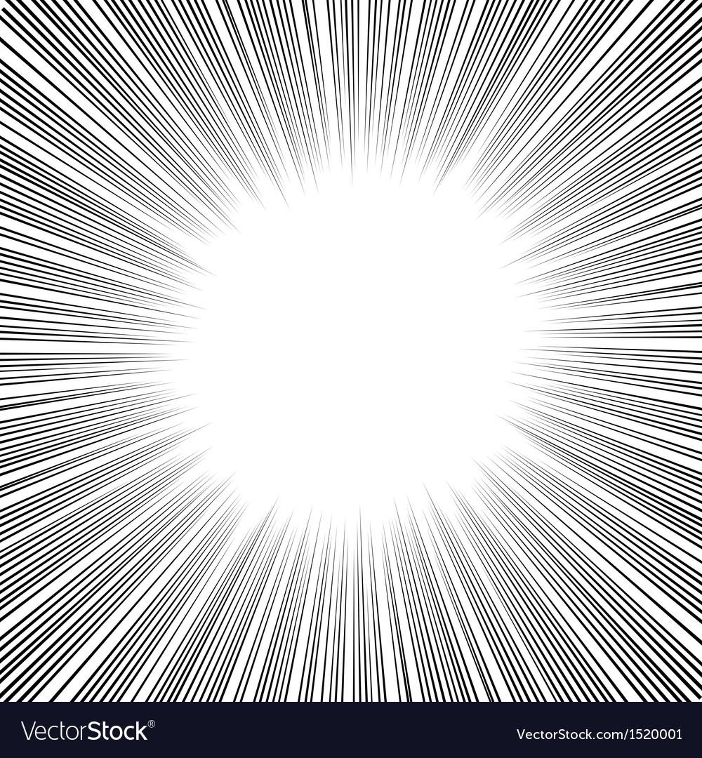 Manga Comics Radial Speed Lines.