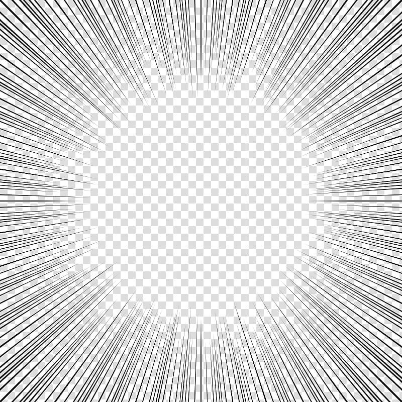 Screentones action lines , black lines transparent background PNG.