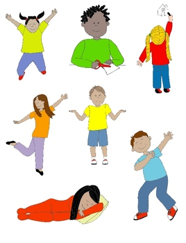 Kids in Action 1 Clip Art: Action Verbs, Illustrated!.