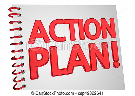 Action Plan Strategy Book Document 3d Illustration.