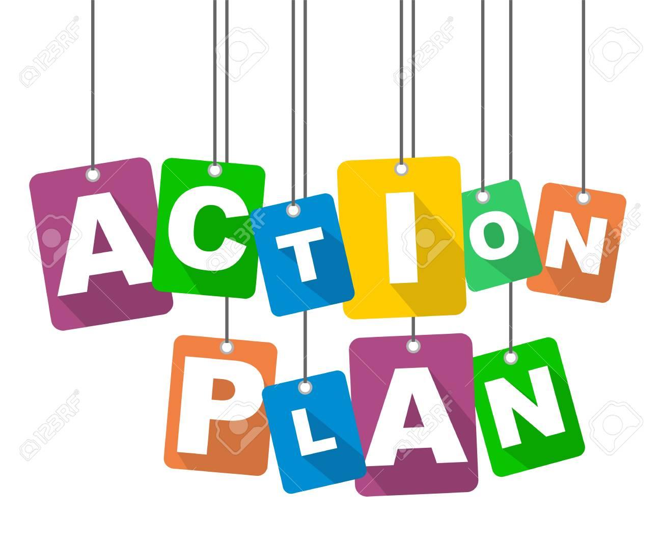 vector illustration background action plan.